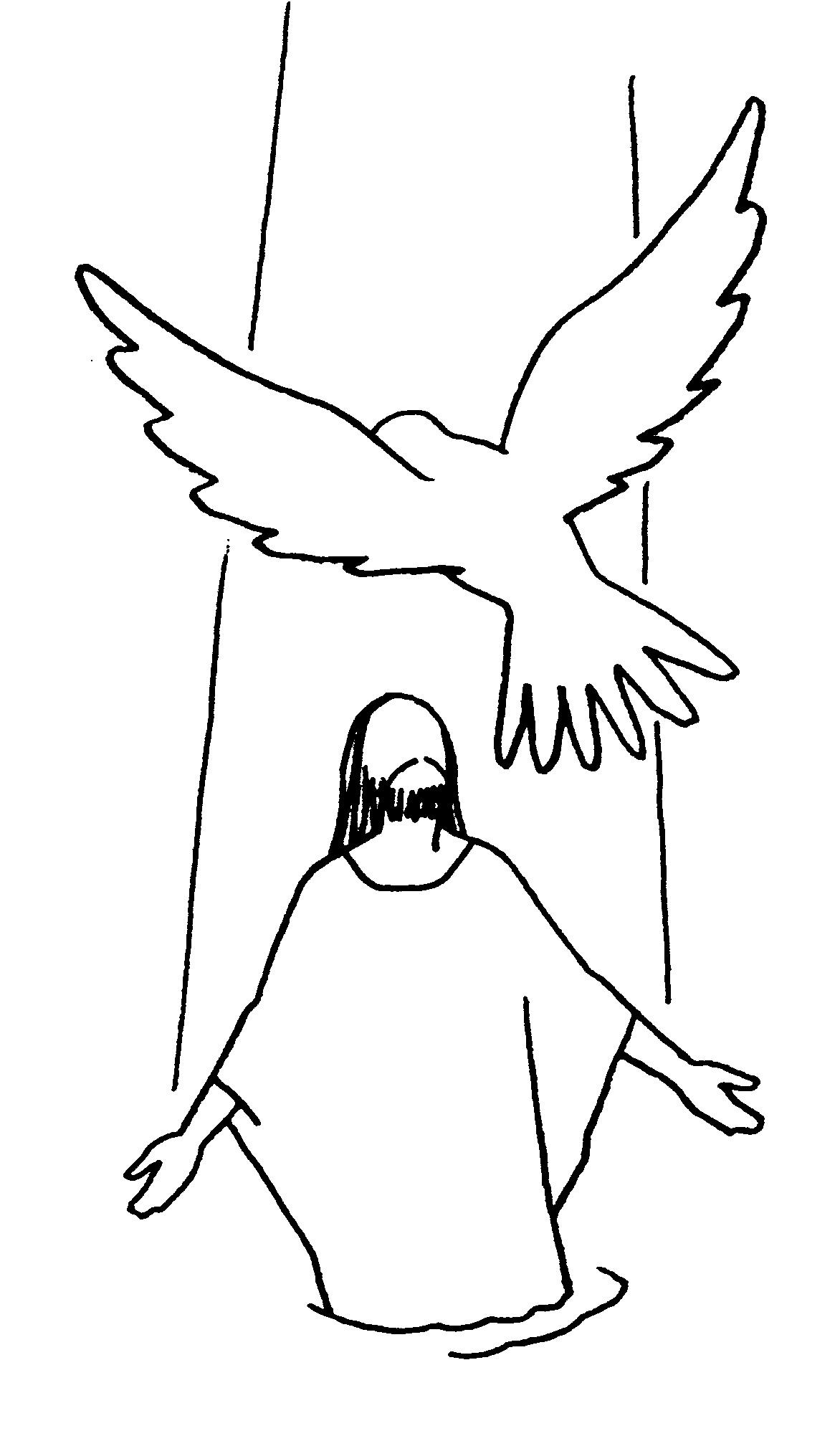PARA COLOREAR: Bautismo de Jesús para colorear