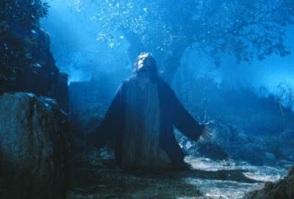 Jesús haciendo oración