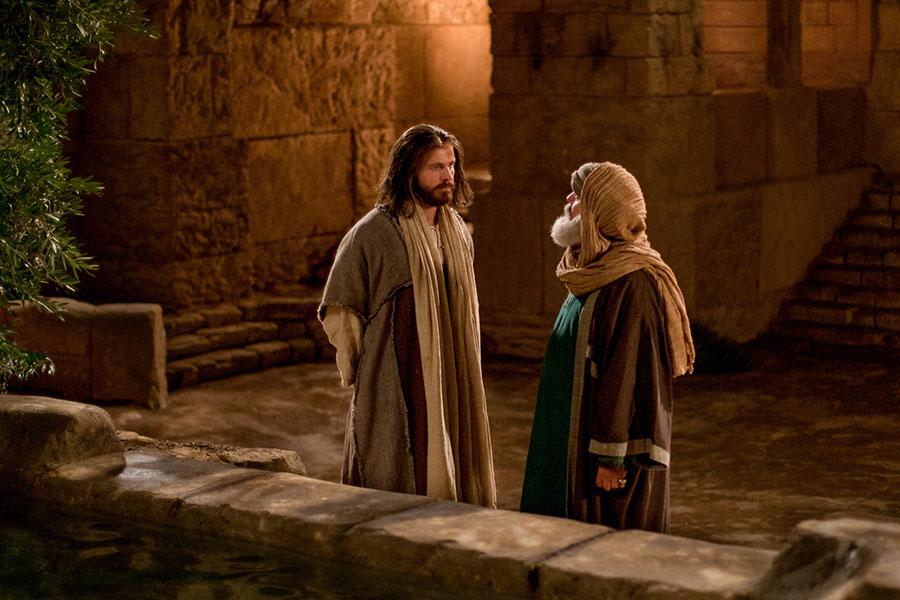 Jesús con Nicodemo