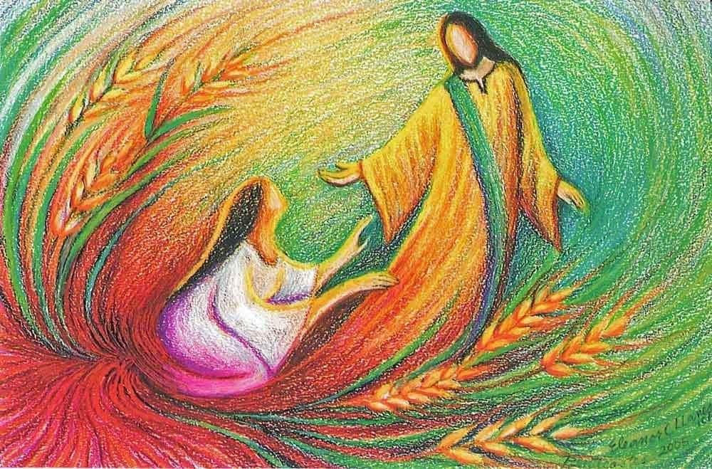 Jesús resucitado y mujer