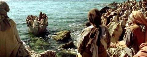 Jesús en la barca