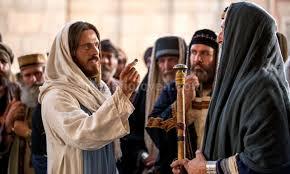 Jesús discute fariseos