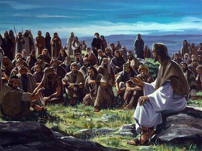 jesus y multitud