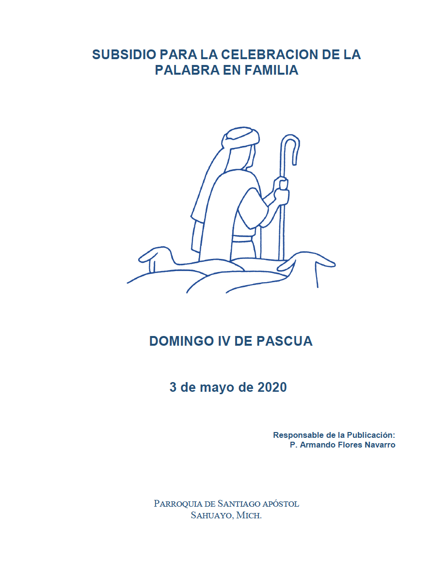 Portada Folleto IV domingo de pascua