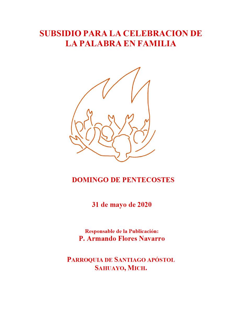 Portada Subsidio Domingo Pentecostés 31 Mayo 2020