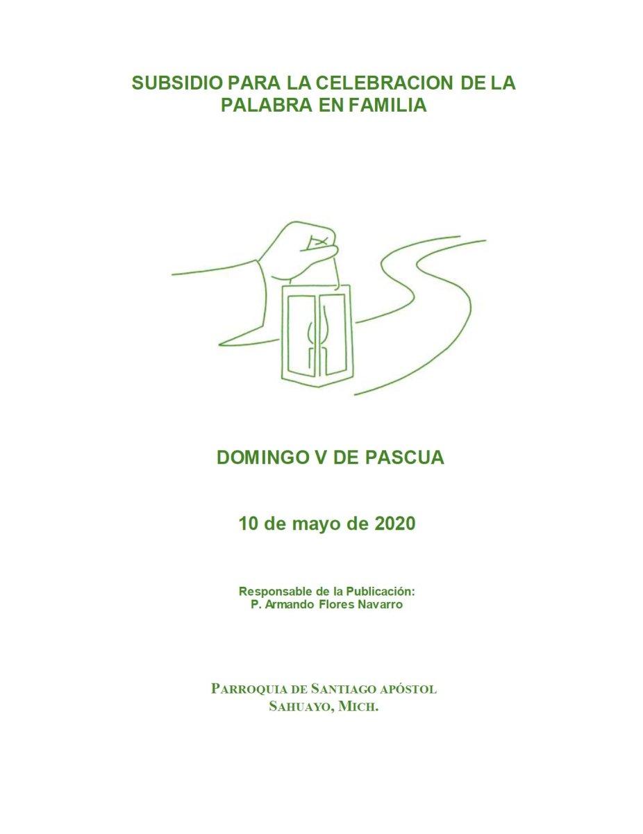 Portada Subsidio Domingo V - 10 Mayo 2020