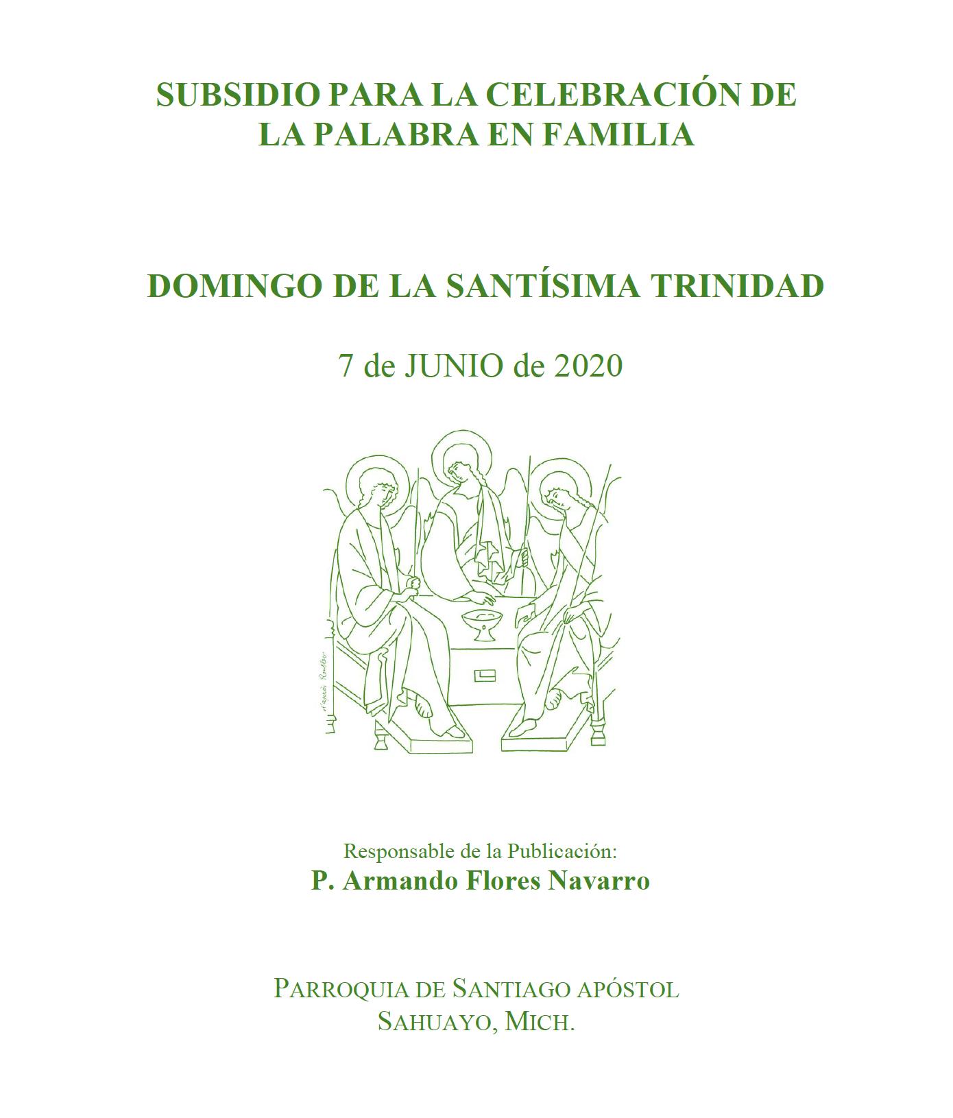 Portada Subsidio Domingo Santísima Trinidad 7 junio 2020